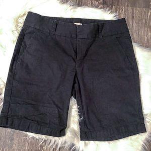 J. Crew Black Frankie Bermuda Shorts. Size 4. EUC.